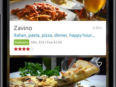 GrubHub Search Results redesign grubhub food app ios iphone