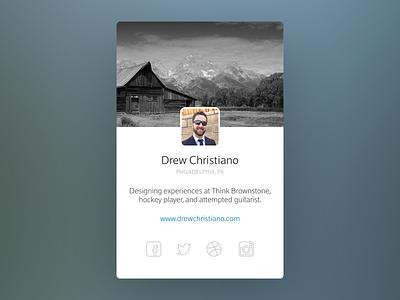 User Profile social dailyui user profile