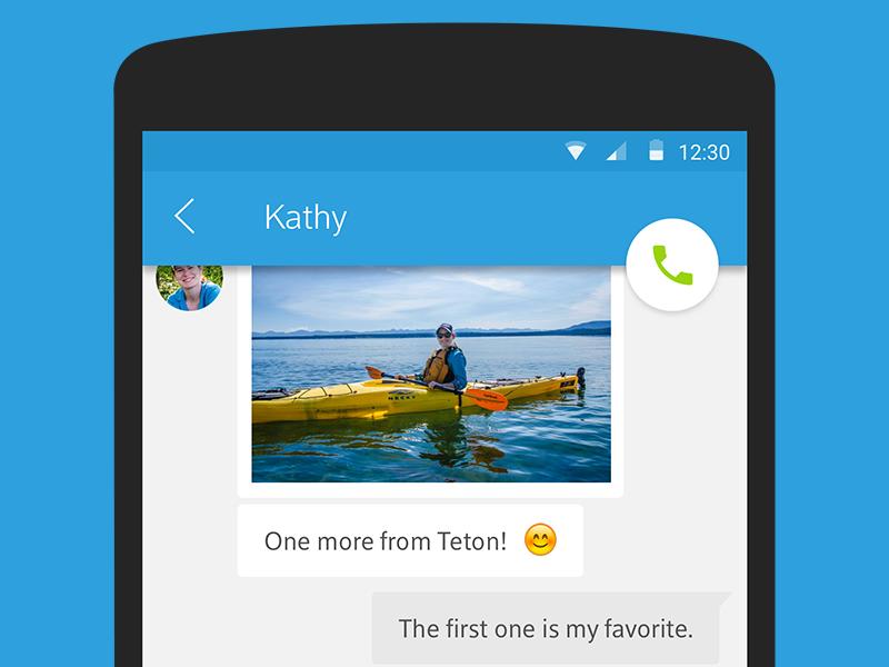 Messaging nexus material design android chat messaging im dailyui