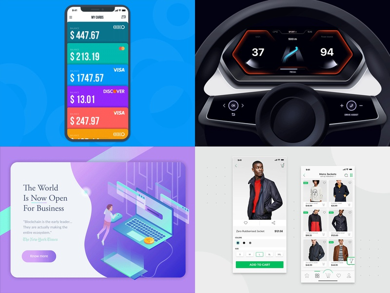 Top 4 of 2018 vector interaction concept top4shots ux design ios android mobile animation app ui mlsdev