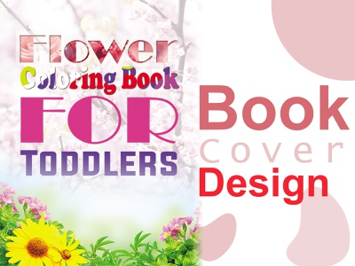 Coloring Book Cover Design flower book cover branding coloring book book cover art cover book cover design