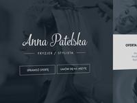 Hairdresser homepage