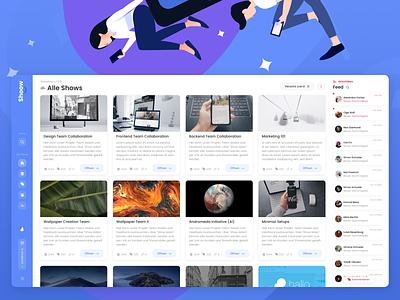 ☁️ Mekomaga - Dashboard Overview illustration spa pwa website blue collaboration ui webdesign design dashboard design dashboard