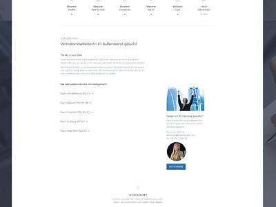 Career Website - Quality Pen Company wordpress career business onepage icons white minimalistic pen webdesign web screendesign website