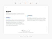 Freelancer Flyer - Testimonials - Page VIII