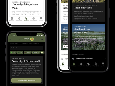 National Parks App Concept - Daily UI Challenge 001
