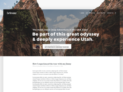 Blog Design - Daily UI Challenge 005 utah offroad jeep wordpress adventure blog ui design minimal web website