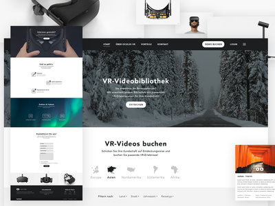 VR Travel Experiences - Daily UI Challenge 008 dailyui daily ui daily black art direction landing page design exploration website concept ui design website design web design mockup oculus travel virtual reality vr design ui web website