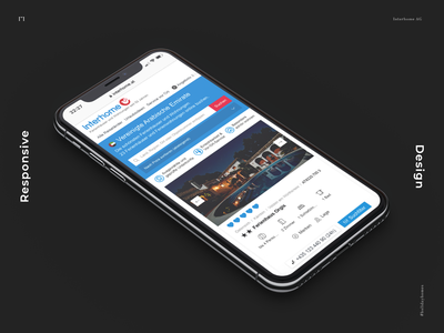 Holiday Home App - Daily UI Challenge 013 isometric iphone travel blue css daily ui dailyui icon app website design