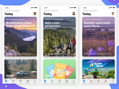 App Store Recreation - Daily UI Challenge 014 dailyui nature minimalist minimal clean concept ios iphone illustration app ui design