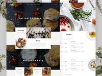 Italian Restaurant Theme - Daily UI Challenge 017 dailyui theme landing homepage product page food restaurant ecommerce website ui