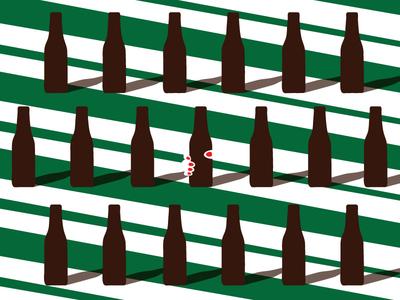 Grab that Beer  coffice event line pattern minimal illustration coffee beer
