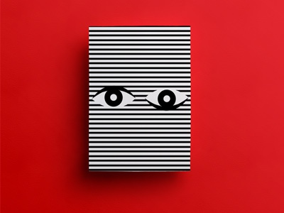 All Eyes on You black and white color stripes eyes red minimal illustration