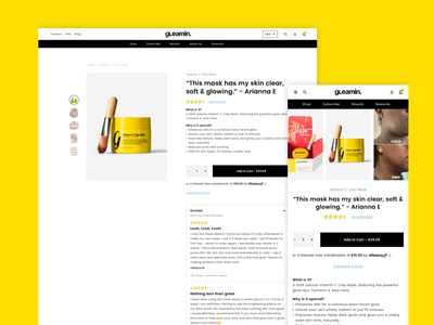 Gleamin Product Page website web development user experience shopify ecommerce web design ux ui