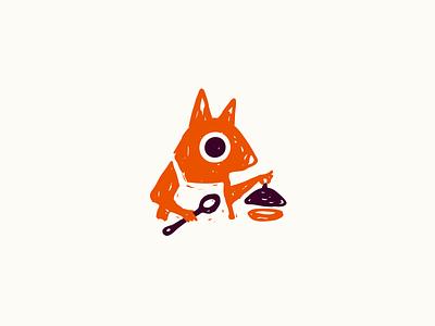 Logo for organic baby food cozy cooking handmade oak acorn baby food nut squirrel characterdesign drawing animal hand drawn mascot flat cute character logo illustration