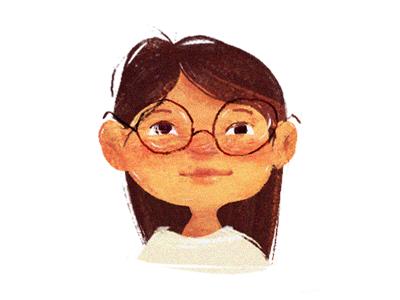 ☀️ Girl ☀️ child sketch characterdesign cute digitalart girl hair digital paint illustration character