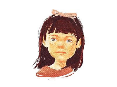 Matilda sketch portrait paint illustration digital paint classic character matilda