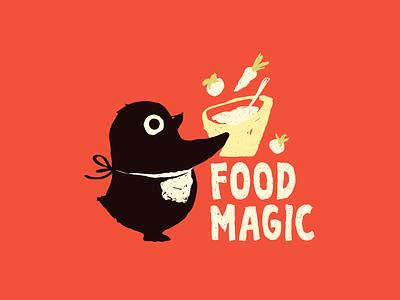 🌟 Food Magic 🌟 texture animal hand drawn cooking cook penguin mascot logocollection logo illustration food cute character