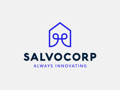 Salvocorp tech house innovation geometric branding line logo vector icon logotype flat logo