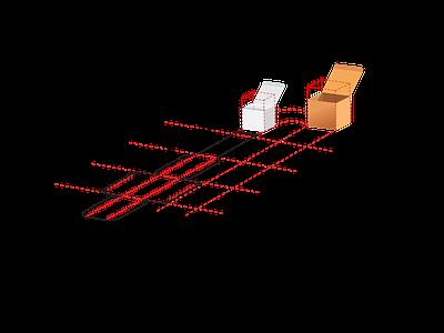Box calculation design graphic  design logo