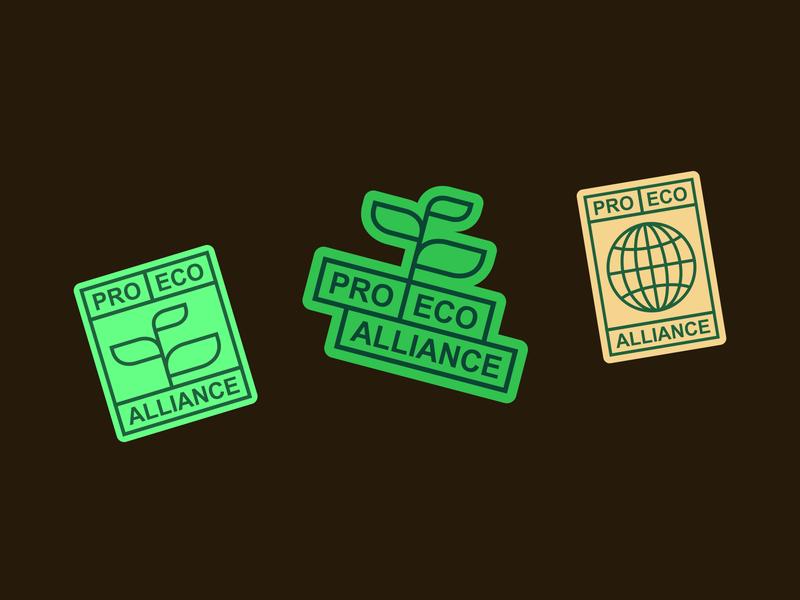 Pro Eco Alliance green ecology eco identity branding design