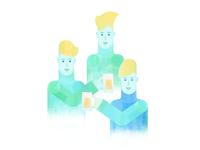 Blonde men + beer