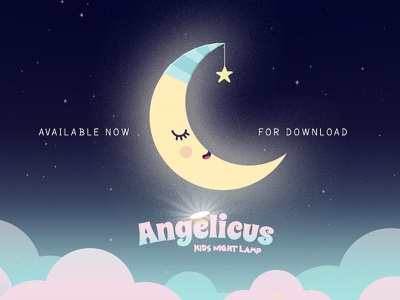Angelicus - Kids night lamp angelicusgameapp angelicus mobile games free games sweet games dreaming sleeping kids games mobilegames games game design kids app artwork design app design