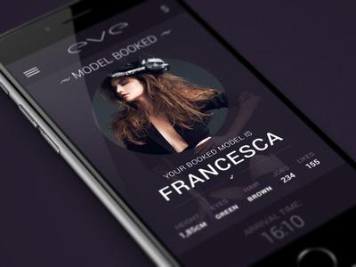 Eve App eve mobile ui app design purple model