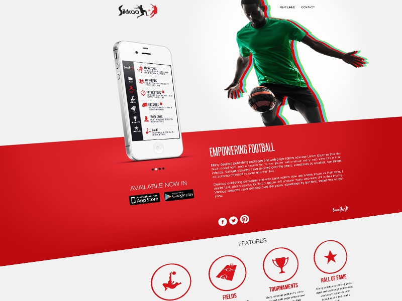 Sikkaa App promo website sikkaa website design app website ui football