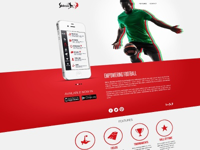 Sikkaa App promo website sikkaa website design app website ui football