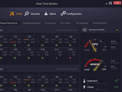 Server Dashboard app UI hardware cpu user interface server app design dashboard