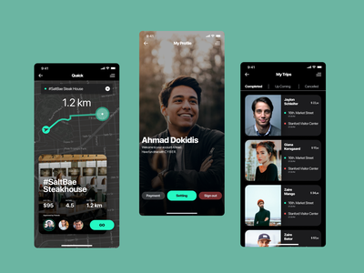Trips Tracking App app ux ui design