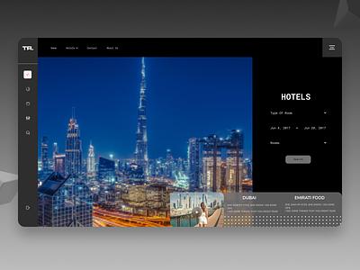 Hotel Booking Dashboard website web ux ui design