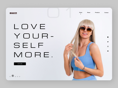 Fitness Trainer minimal online new branding typography website web ux ui design