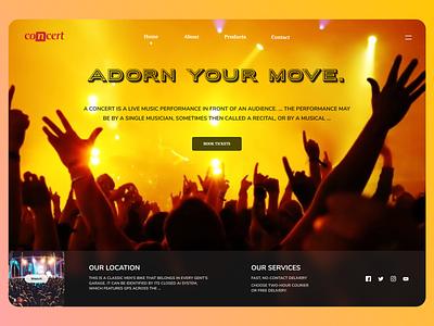 Concert Web conceptual concept art music concept design minimal online new branding website design web ux ui