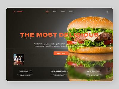 Food Landing Page minimal typography new online branding design website web ux ui