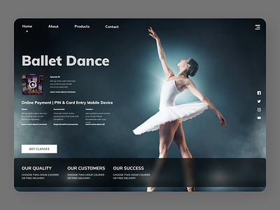 Dance Trainer education website new typography online branding web website design ux ui