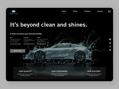 Cars Landing Page typography online new branding ui website web ux design