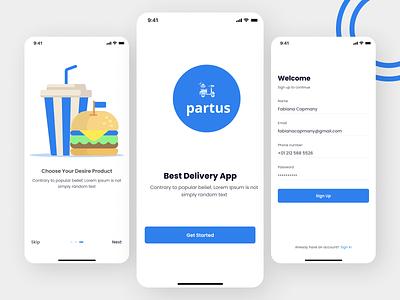 Food Delivery App app ux ui design