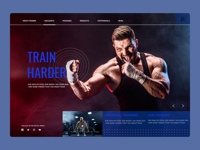 Fitness Trainer Web design typography web ux ui design