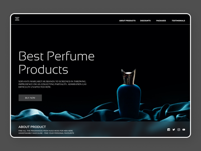 Perfumes Products uidesign newdesign online new art website typography clean web ux ui design