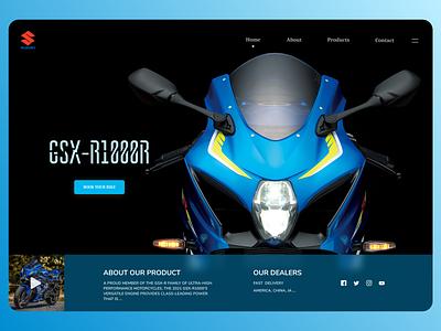 Bikes Landing Page online new website typography minimal clean web ux ui design
