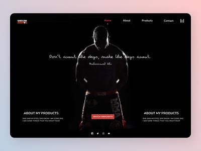Gym Trainer online new website typography minimal clean ui web ux design