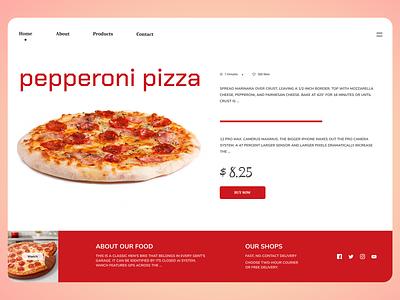 Pizza Online typography online new website minimal clean web ux ui design