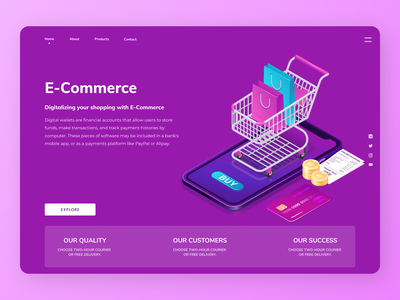 E-Commerce Web illustration minimal webdesign uiux new branding website clean web design ux ui