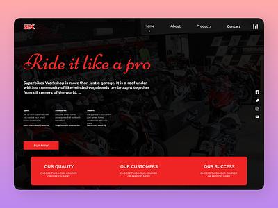 Bikes LP branding typography online new website clean web ux ui design