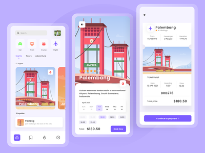 Indit - Travel App Design red white ui design ios android uidesign building illustration travel design travel app travel branding vector ui minimal illustration graphic design flat design clean bright color