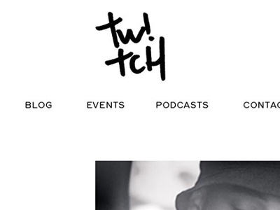 Something new... ui ux web design clean black  white