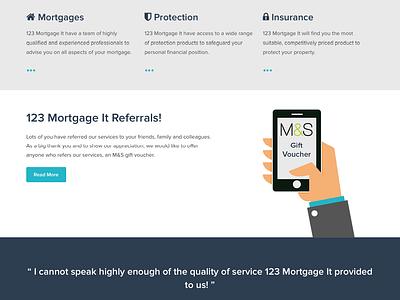 123 Mortgage It ui ux web design mortgages