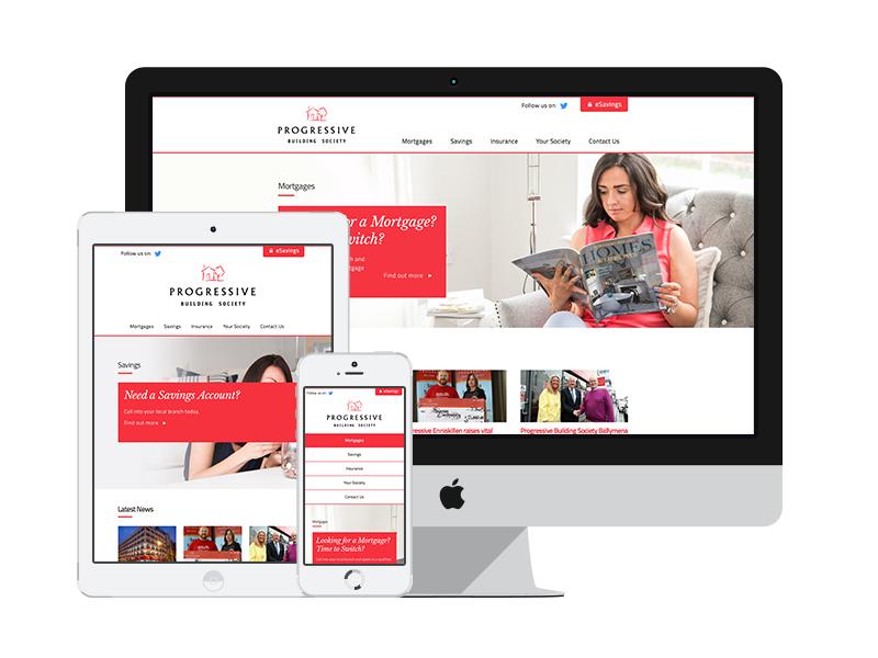 Progressive Building Society belfast savings mortgage bank responsive ux clean wordpress ui website